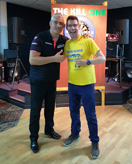 Nice to get a photo with Steve Beaton after our match at The Kill One pub in Barrow-in-Furness