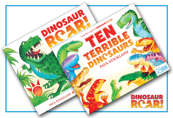 ten terrible dinosaurs, dinosaur roar, paul stickland,dinosaurs for kids, dinosaur books,