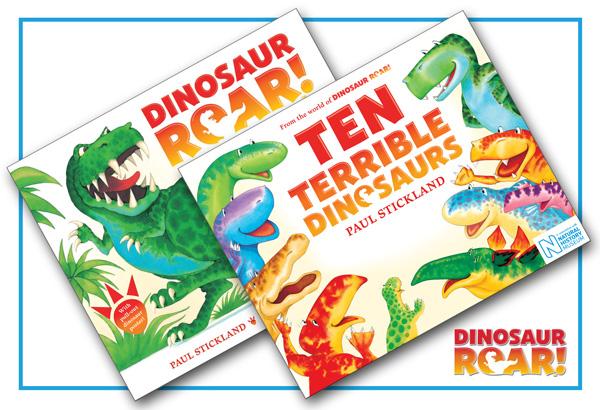 ten terrible dinosaurs, dinosaur roar, paul stickland,dinosaurs for kids, dinosaur books,