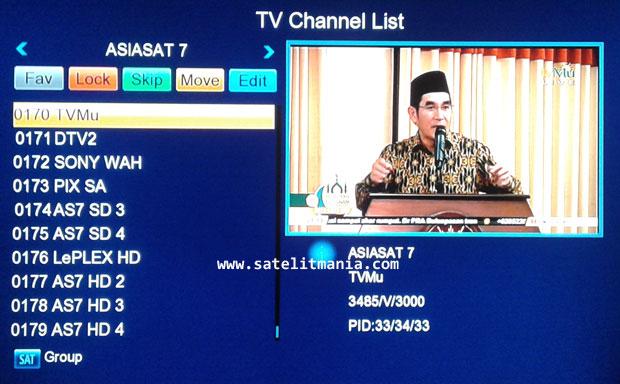 TVMU : Frekuensi Terbaru Channel TV Mu di Satelit Telkom 1 dan Asiasat 7