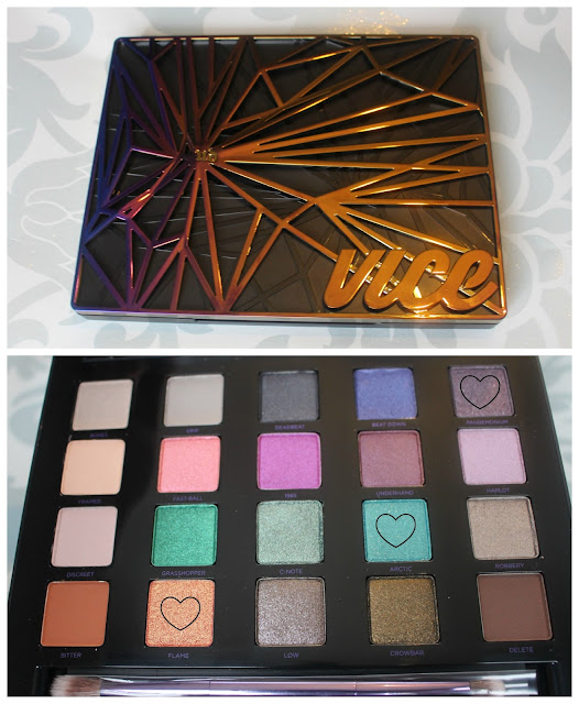 Photo of the shadows inside the Urban Decay Vice 4 Palette
