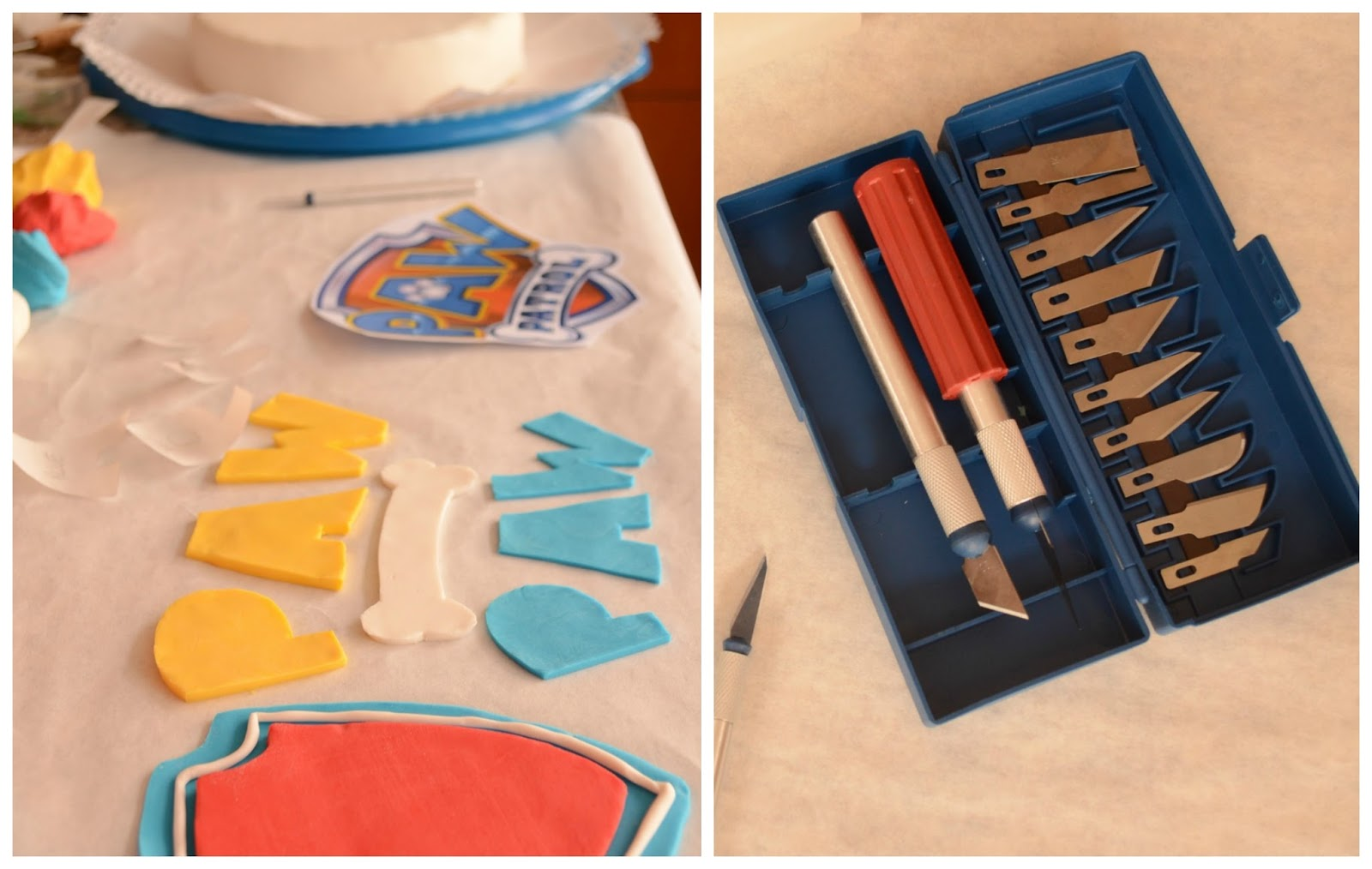 Practical Mom: Amateur Paw Patrol Cake, from scratch!