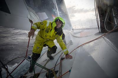 Peter Burling sur la Volvo Ocean Race avec Brunel.