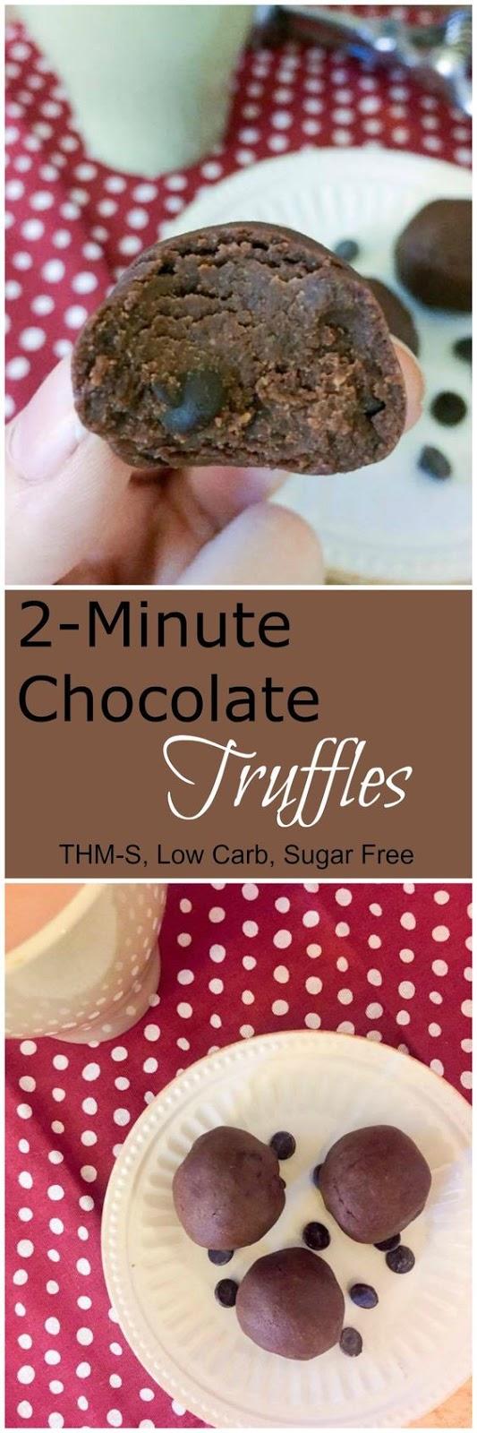 2 Minute Chocolate Truffles Recipe