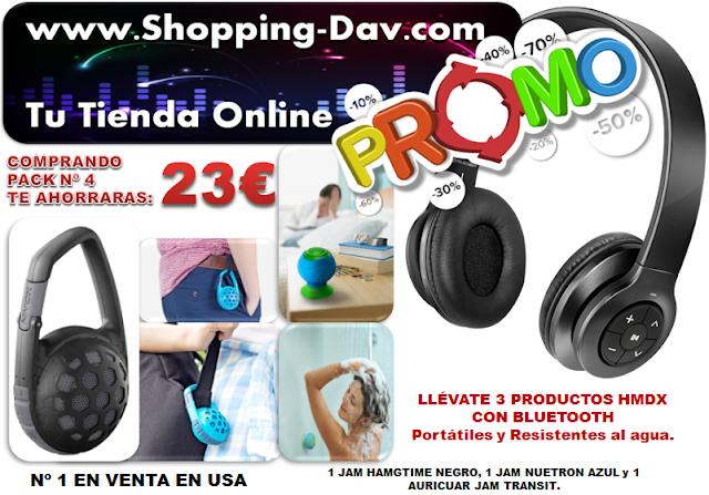 Llévate estos 3 productos de sonido portátil y ahórrate 23€ entra en Shopping-dav.com