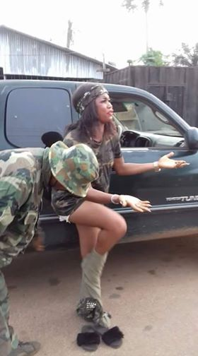 Photos Nigerian Soldiers Allegedly Stripped Lady Caught -7783
