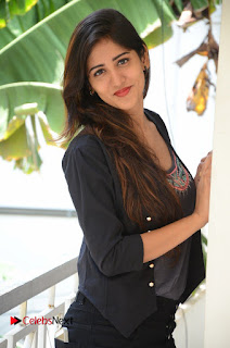 Actress Chandini Chowdary Pictures in Black Jeans at Interview  0079.JPG