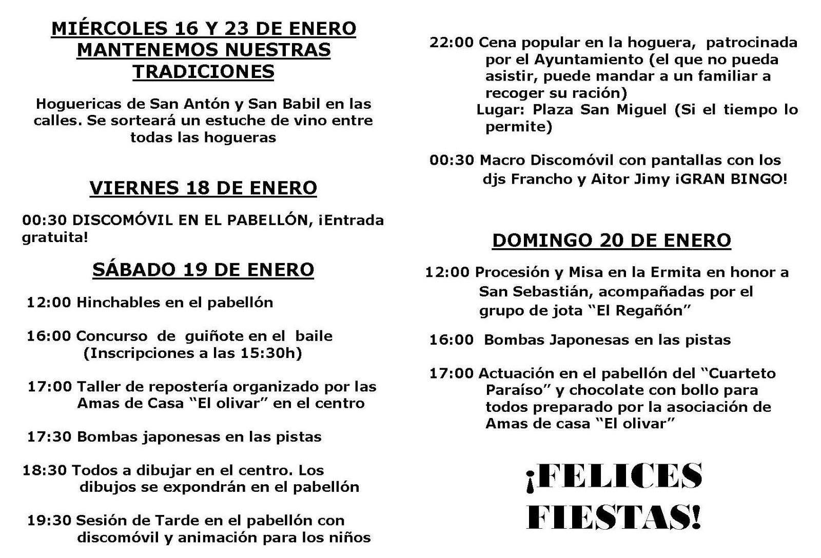 Centro De Estudios Borjanos Fiestas De San Antón Y San Sebastián En