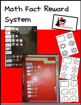 Free math fact reward system from Raki's Rad Resources.