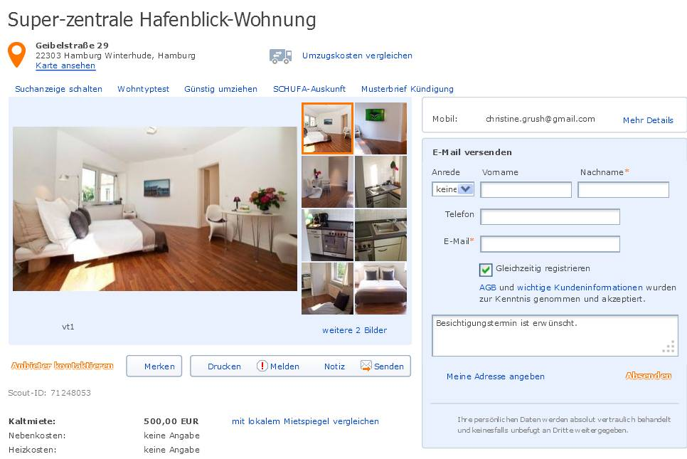 super zentrale hafenblick wohnung geibelstra e 29 22303 hamburg. Black Bedroom Furniture Sets. Home Design Ideas