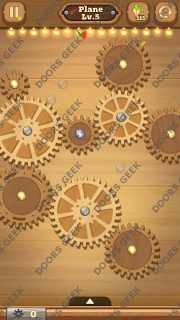 Fix it: Gear Puzzle [Plane] Level 5 Solution, Cheats, Walkthrough for Android, iPhone, iPad and iPod