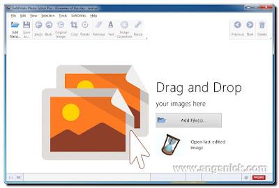 Photo Editor Pro 3.1 - Интерфейс программы при запуске
