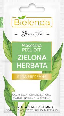 Bielenda maseczka peel-off zielona herbata