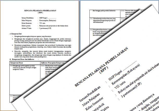 RPP Prakarya Kelas 7 Kurikulum 2013 Revisi 2016 Semester 1 dan 2
