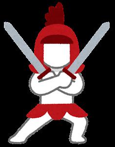 RPGのキャラクターのイラスト(戦士)