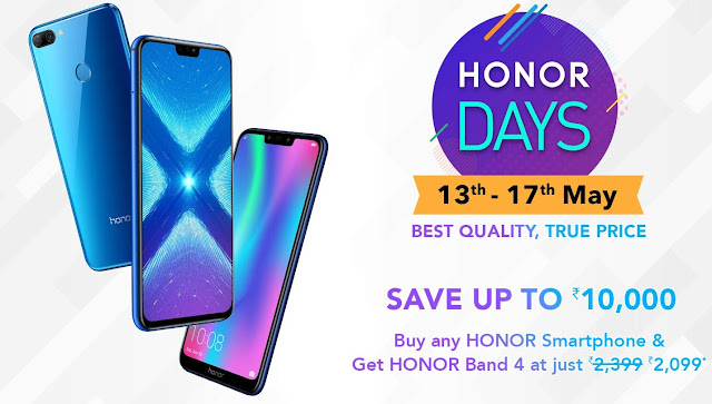 Honor Days sale on Amazon: Up to Rs. 10,000 discount on Honor smartphones