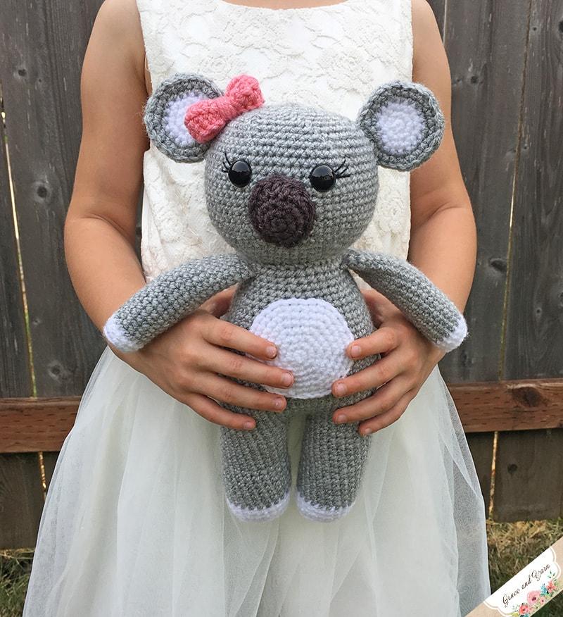 Amigurumi Koala Bear A Free Crochet Pattern Grace And Yarn