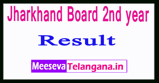 Jharkhand Board 2nd year Result 2019