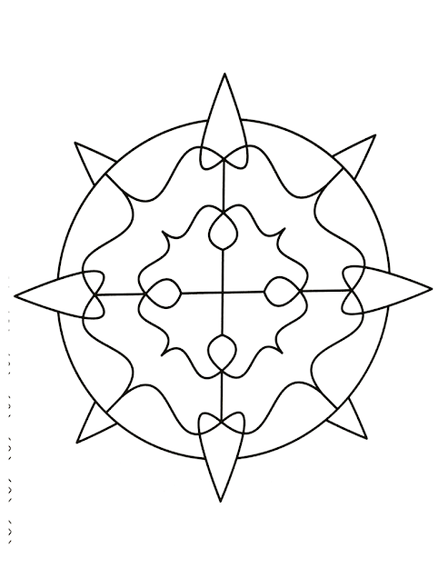 Easy Mandalas For Kids   Mandalas Zen Free Mandala Coloring Pages