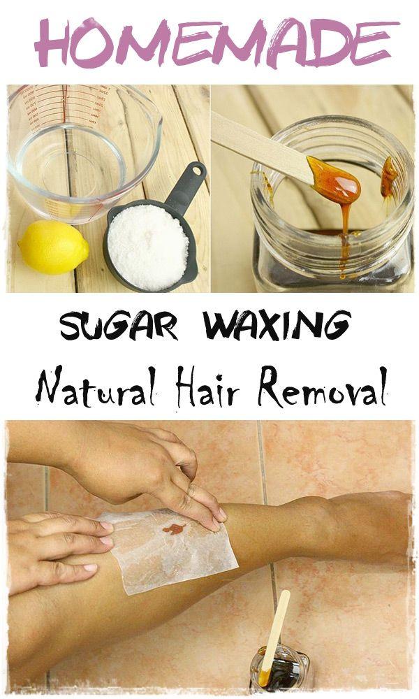 Homemade Sugar Waxing Natural Hair Removal