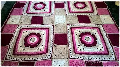 blanket crochet Afghan easy free patter CAL stash-buster