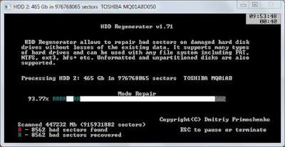 hdd regenerator for windows