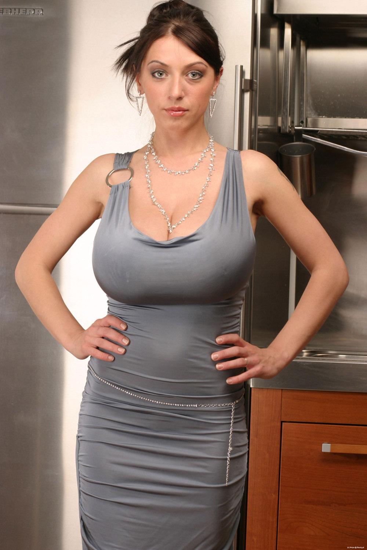 Beautiful busty girl: Anya Sakova Tight Silky Dress
