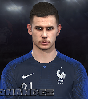 PES 2018 Faces Lucas Hernández by Prince Hamiz