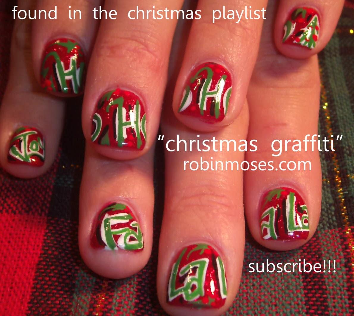 """Christmas Nails Tutorial Youtube: Nail Art By Robin Moses: """"Nail Art For Christmas"""