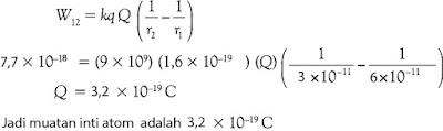 Jawaban soal fisika tentang listrik statis nomor 8