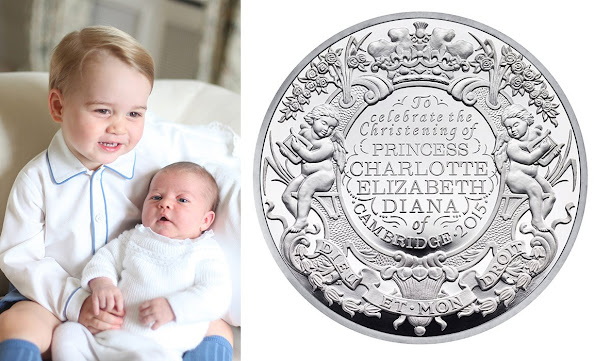 The Royal Mint has unveiled a new silver coin to mark Princess Charlotte's christening