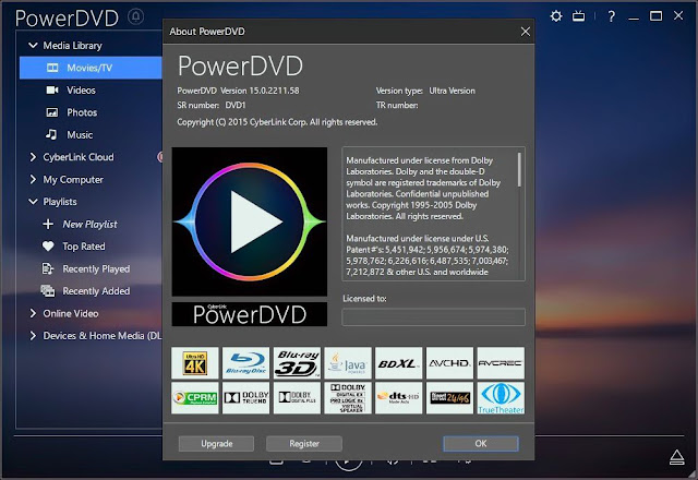 PowerDVD is the perfect universal media player for all your entertainment needs. Play any movie, video or music file or view photos stored locally, in Youtube or Facebook or on other devices all from within the one powerful application. It also works perfectly with your home network, share media library to other DLNA devices at home, browse content from other media server or extend your media experience to Power Media Player on your iPhone, iPad, and Android phone or Windows tablets.