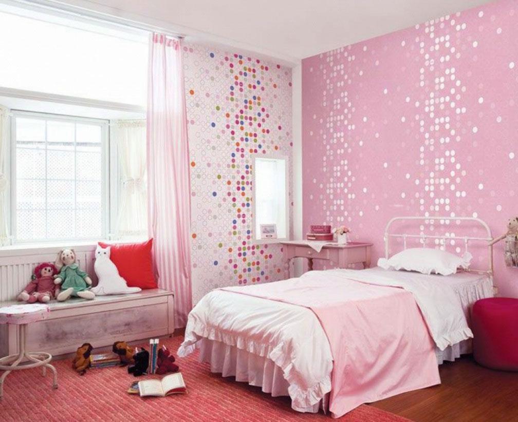 83 kamar tidur anak perempuan minimalis warna pink yang terlihat