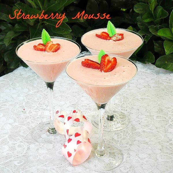 Strawberry Mousse - Valentines dessert - Dessert - Easy Dessert