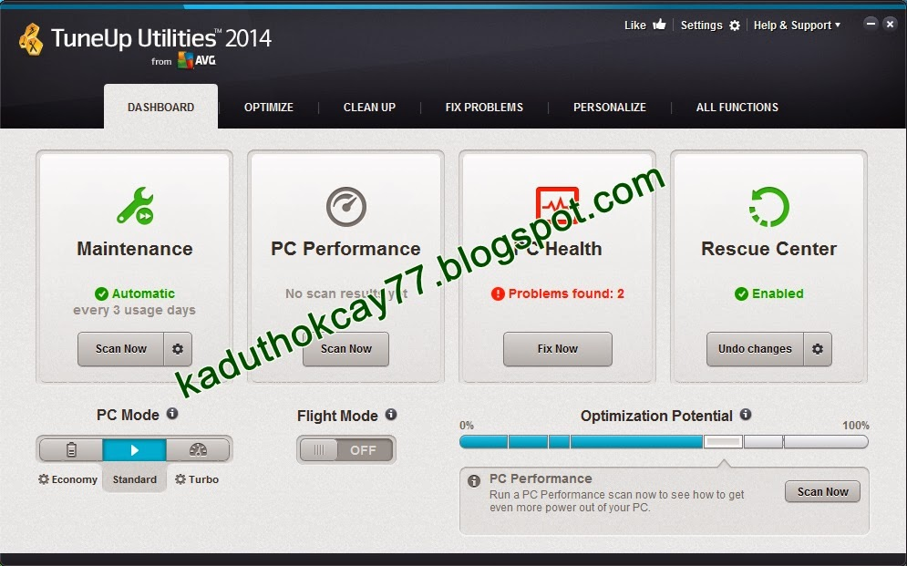 Download TuneUp Utilities 2014 Full Version Terbaru