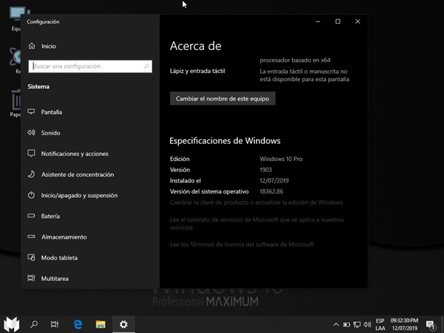Windows 10 AIO 19H1 (SOA) Gamer Maximum Full Español