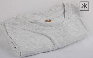 kaos polos pendek warna putih misty