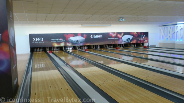 bowling lane in Singapore