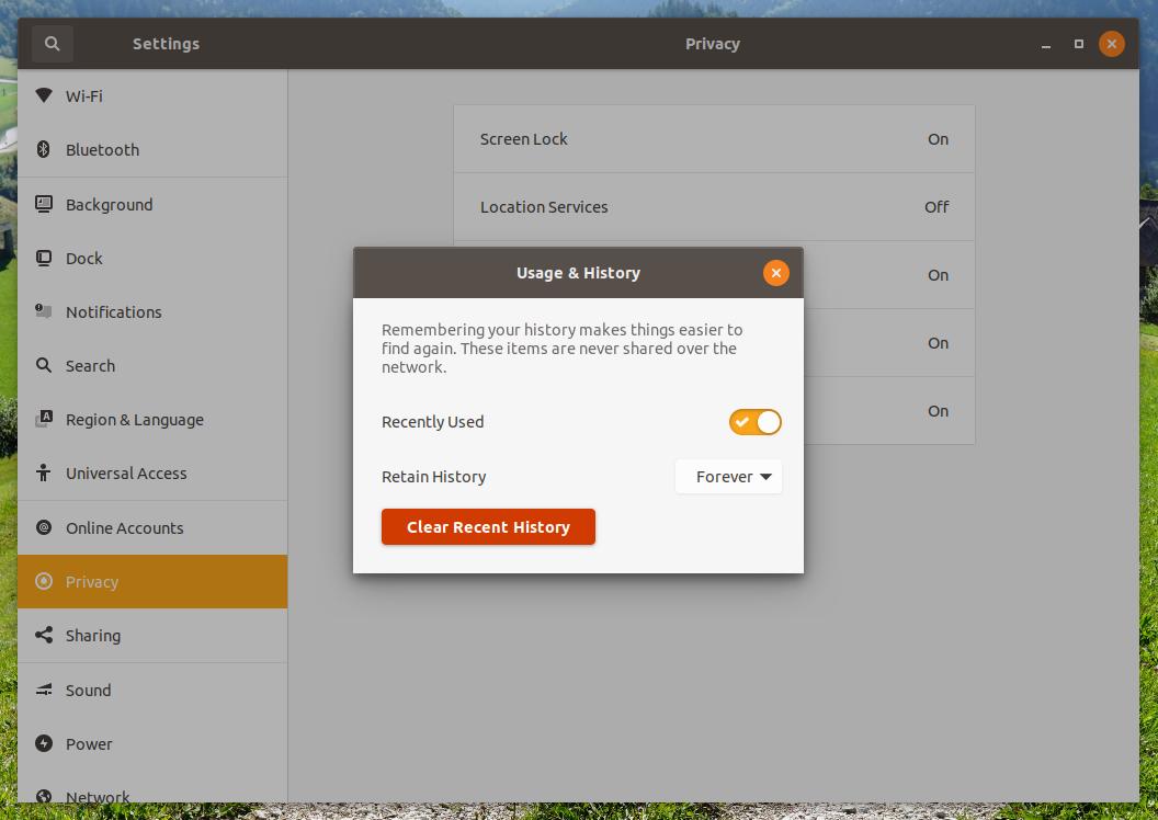 ubuntu 19.04 privacy