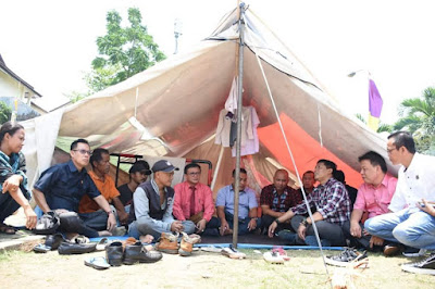 DPRD Kota Bandar Lampung Temui Korban Penggusuran Pasar Griya Sukarame