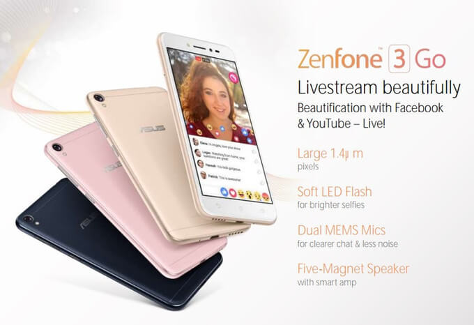 Asus ZenFone 3 Go With Soft LED Selfie Flash Leaks!