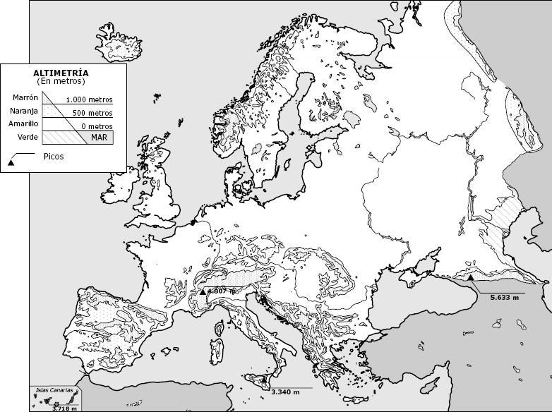 Mapa Europa Para Imprimir.Mapa Relieve De Europa En Blanco Y Negro Servicio De Citas