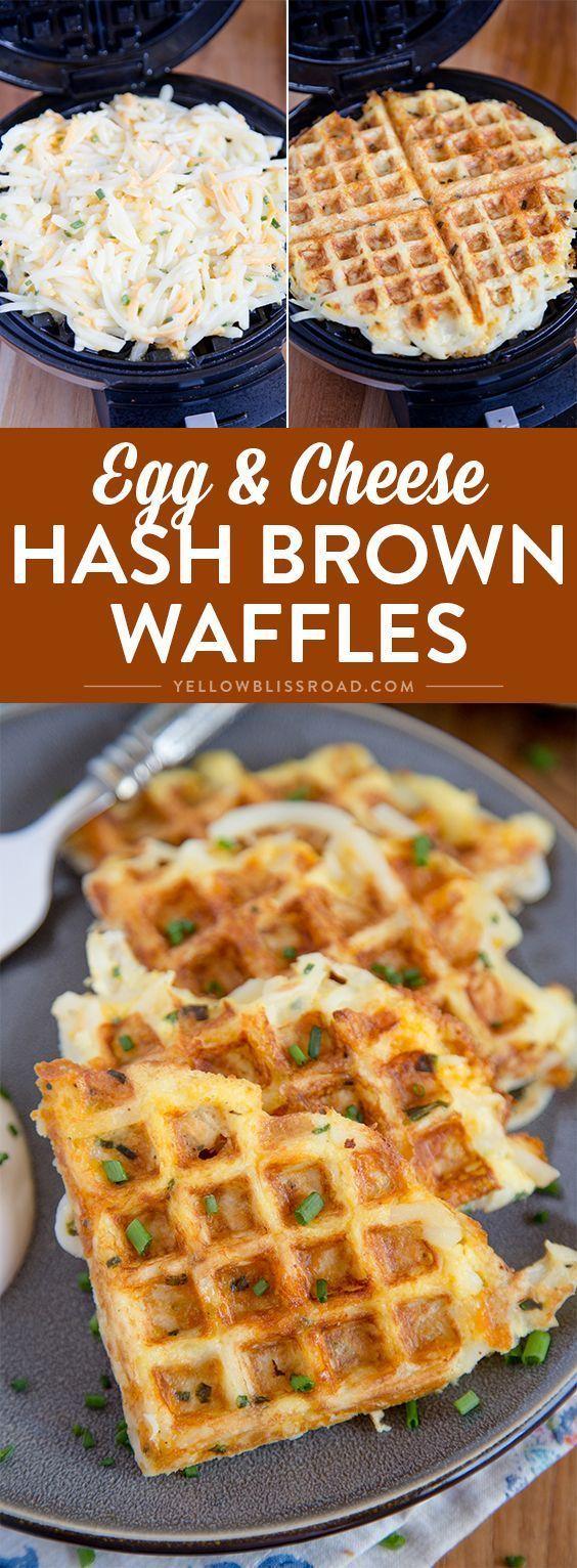 EGG & CHEESE HASH BROWN WAFFLES #egg #eggrecipes #cheese #cheeserecipes #waffles #wafflesrecipes #breakfast #breakfastrecipes #breakfastideas