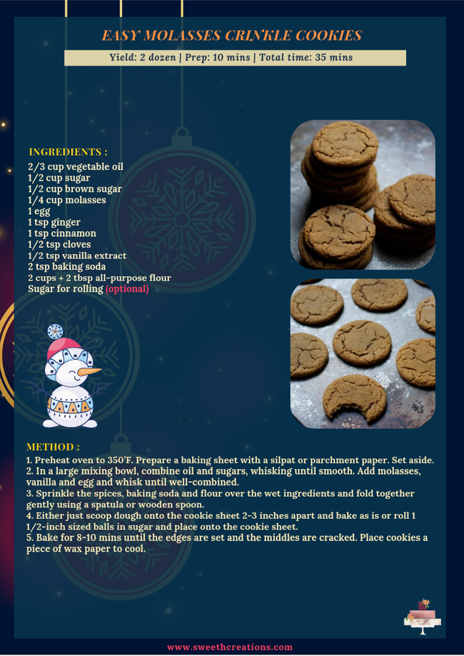 EASY MOLASSES CRINKLE COOKIES RECIPE