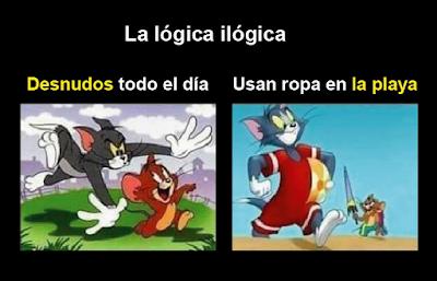 La lógica de las caricaturas tom y jerry