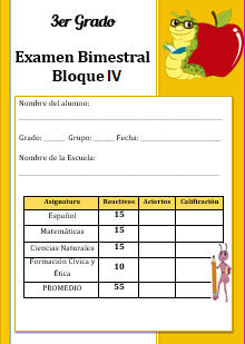 Examen del Bloque 3 Ciclo escolar 2016-2017 Tercer grado