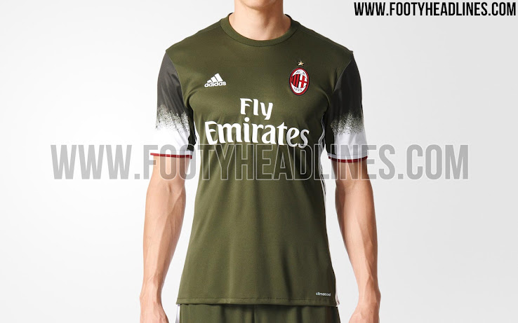 timeless design 397a0 e7f2b IMAGES: AC Milan's New 'Night Cargo' 2016/17 Third Kit ...