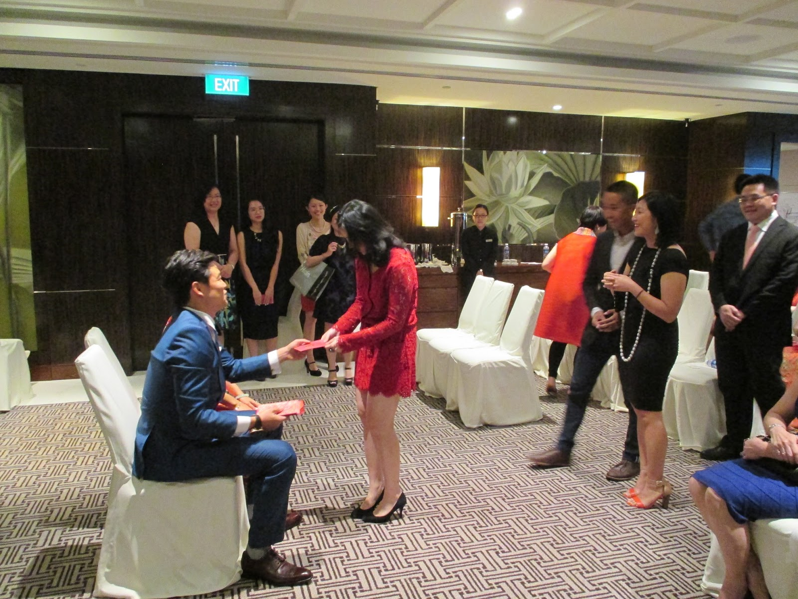 The Newly Weds Giving Out Lucky Red Packets To Younger Generation Who Are Yet Marry