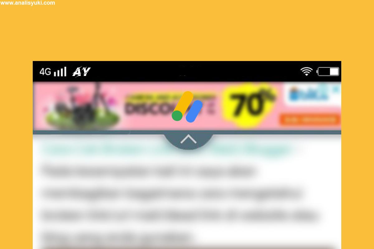Cara Memasang Iklan Melayang/Overlay di Tampilan Seluler Blog
