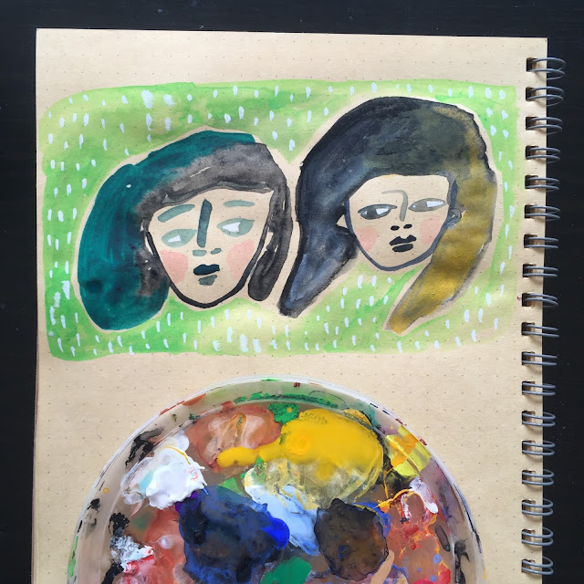 Lizzie Christian, Rare Press, sketchbooks, painting, Sketchbook Conversations
